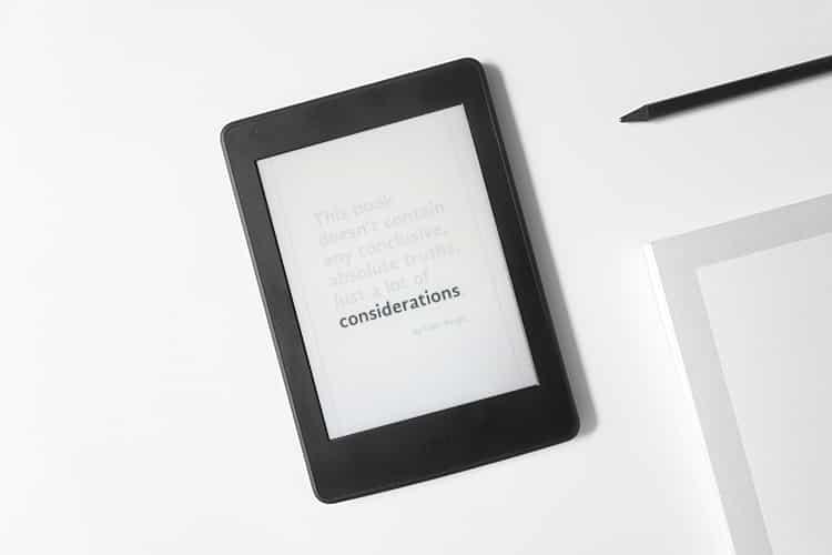 Waarom ik mijn boeken via Kindle lees